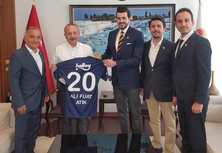 Denizli Fenerbahçeliler Derneği'nden Denizli Valisi Atik'e ziyaret