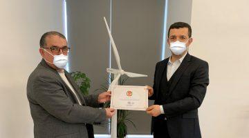 Dgc'den Aydem Yenilenebilir Enerji'ye Teşekkür Belgesi