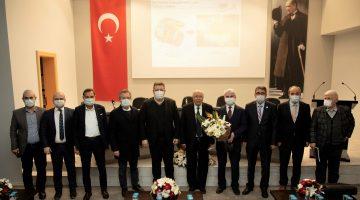 Prof. Dr. Mahmut F. Akşit Denizli OSB'de sanayicilerle bir araya geldi