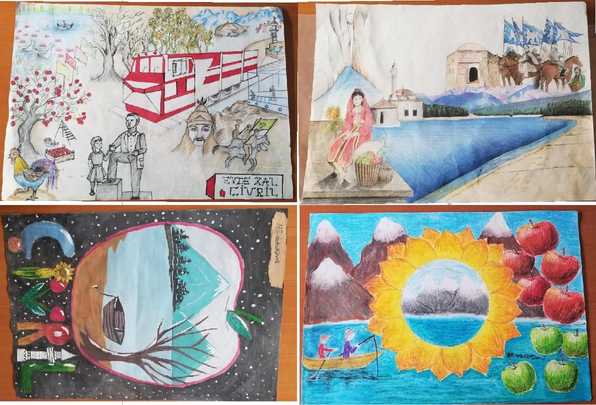 """""""Çivril'i En İyi Ben Çizerim"""" Resim Yarışması Sonuçlandı"""