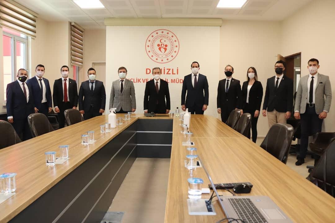 TFFHGD Denizli şubesinden protokol üyelerine ziyaret